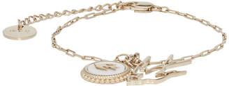 McQ Gold Double Charm Bracelet