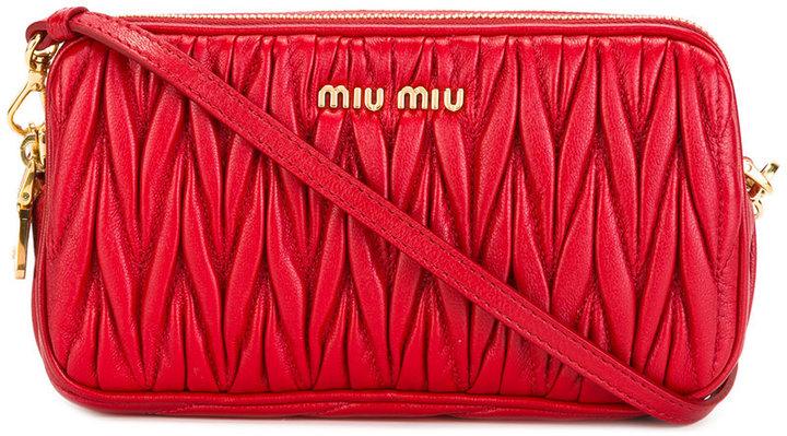 Miu MiuMiu Miu textured cross body bag
