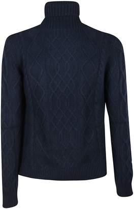 Ballantyne Patterned Knit Turtleneck Jumper