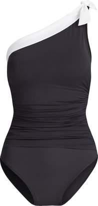 Ralph Lauren Slimming One-Shoulder Suit