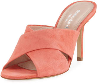 Charles David Stella Suede Cross-Band Sandal