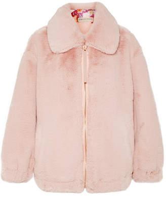 Emilio Pucci Oversized Faux Fur Jacket - Pink