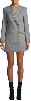 Donna Mizani Nixon Double-Breasted Check Dress