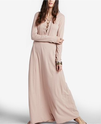 Free People Psychomagic Lace-Up Maxi Dress $88 thestylecure.com