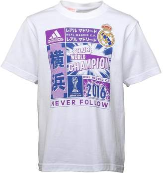 adidas Junior Boys Real Madrid CWC Official Winners T-Shirt White