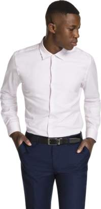 yd. PINK ARAMAC SLIM FIT DRESS SHIRT