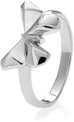 John Greed Origami Safari Flutter-by Rhodium Plated Silver Ring