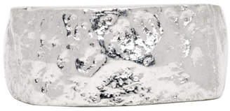 Pearls Before Swine Silver Rectangular Forged Ring