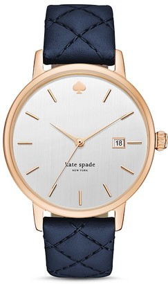 kate spade new york Metro Grand Leather Strap Watch, 38mm $195 thestylecure.com