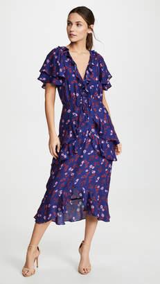 74a54bbf8d25 $350 La Maison TalulahThe Yearning Ruffle Midi Dress