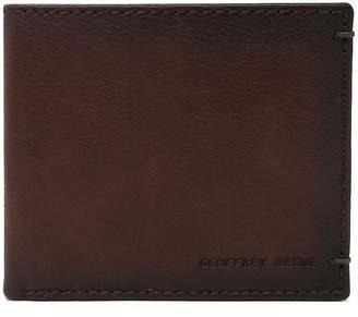 Geoffrey Beene Stitched Bi-Fold Wallet with Bar Tacks