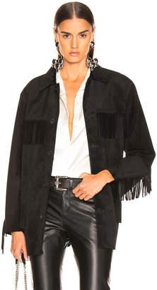 Nili Lotan Leather Fringe Jacket