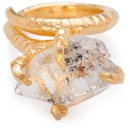 Bjorg Jewellery Herkimer Claw Ring Gold Size L