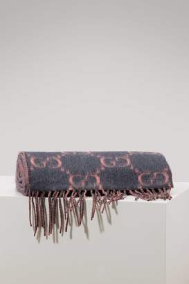 Gucci GG alpaca and wool scarf