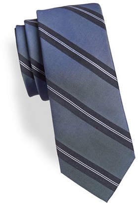 Calvin Klein Balanced Striped Silk-Blend Tie