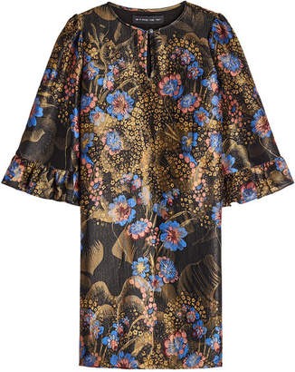 Etro Printed Dress with Silk and Metallic Thread