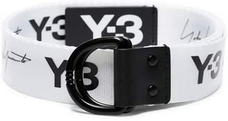 Y-3 logo-print belt