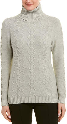 Lafayette 148 New York Turtleneck Wool & Cashmere-Blend Sweater