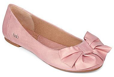 Bolo Ameline Bow-Detailed Leather Ballet Flats