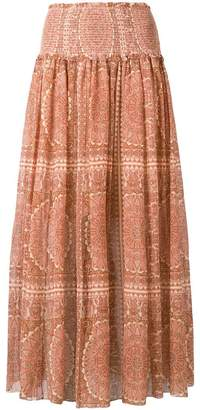 Zimmermann paisley high rise skirt