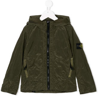Stone Island Junior hooded zip front jacket