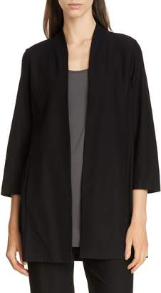 Eileen Fisher Collarless Long Jacket