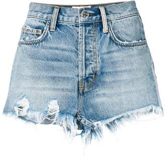 Current/Elliott high-waisted distressed shorts