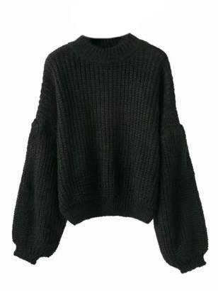 Goodnight Macaroon 'Karis' Puffy Sleeve Chunky Knit Sweater (3 Colors)