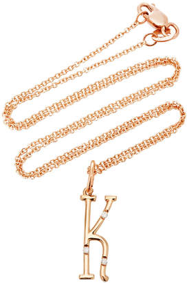 Devon Woodhill Rose Gold Character Letter Necklace