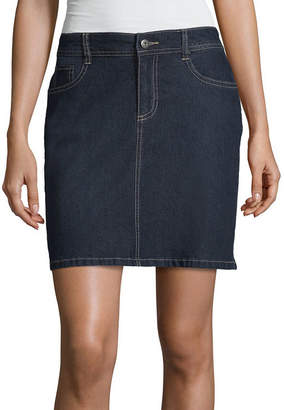 ST. JOHN'S BAY Classic Denim Skort - Tall Inseam 18
