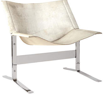 Global Views Cantilever Accent Chair - White