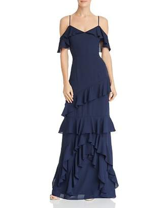 WAYF Danielle Off-the-Shoulder Tiered Ruffle Dress