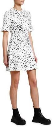Stella McCartney 1/2-Sleeve Polka-Dot Cady Shirtdress