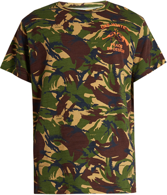 OFF-WHITE Camouflage-print cotton-jersey T-shirt $212 thestylecure.com