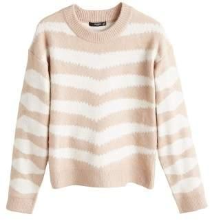 MANGO Zebra textured sweater