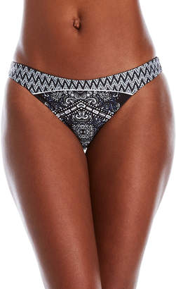 Red Carter Reversible Mosaic Hipster Bikini Bottom