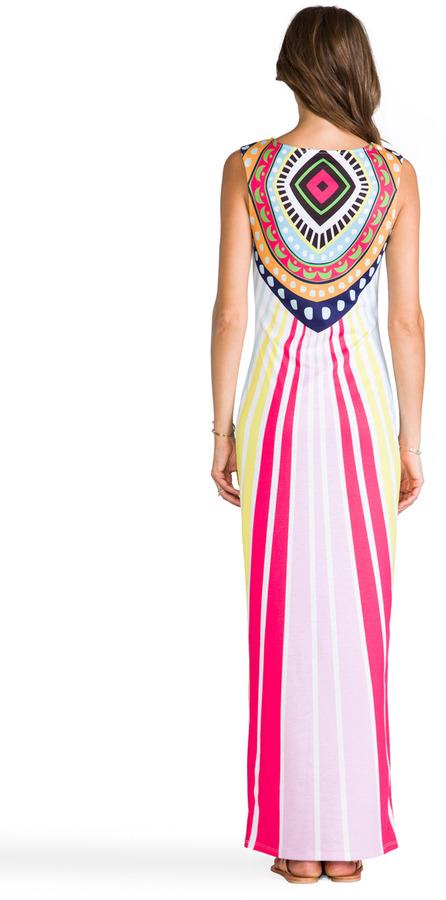 Mara Hoffman Jersey Fitted Maxi Dress