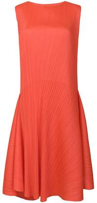 Pleats Please Issey Miyake pleated asymmetric dress