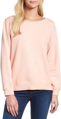 Lou & Grey Garment Dyed Pleat Back Sweatshirt