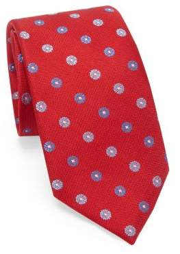 Saks Fifth Avenue COLLECTION Medallion Woven Silk Tie