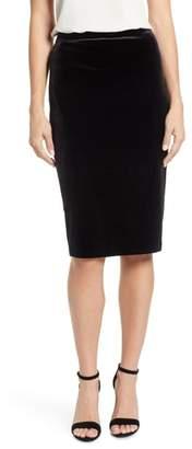 Vince Camuto Velvet Pencil Skirt
