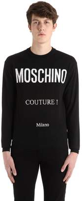 Moschino Couture! Wool Knit Jacquard Sweater