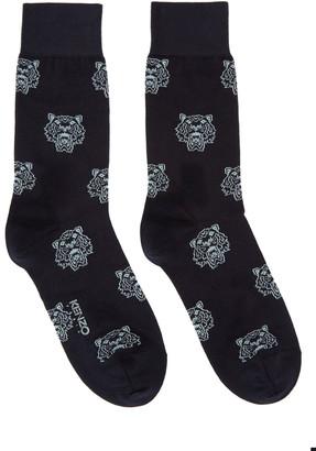 Kenzo Navy Tiger Socks $30 thestylecure.com