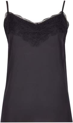 Dorothy Perkins Womens Black Lace Camisole Top