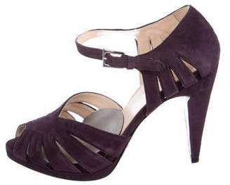 Prada Suede Cutout Sandals