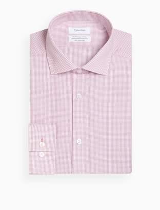 Calvin Klein steel slim fit micro gingham dress shirt