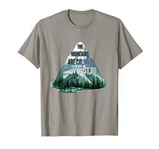 The Mountains Are Calling And I Must Go Shirt Camping Lover T-Shirt