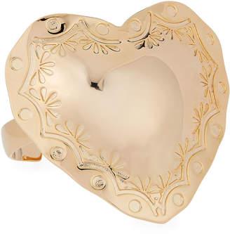 Fallon Heart Cuff Bracelet