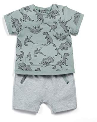 Mamas and Papas Baby Boys' Dino Tee & Jogger Set Clothing