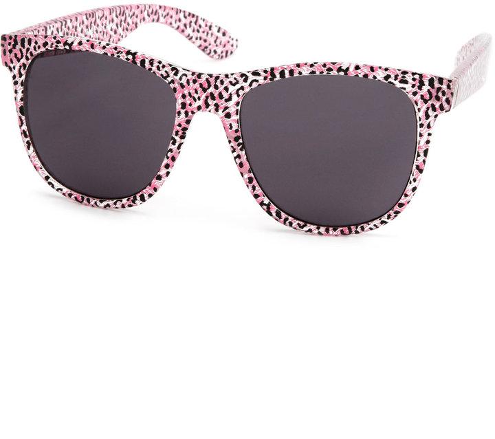Pink Cheetah Print Sunglasses
